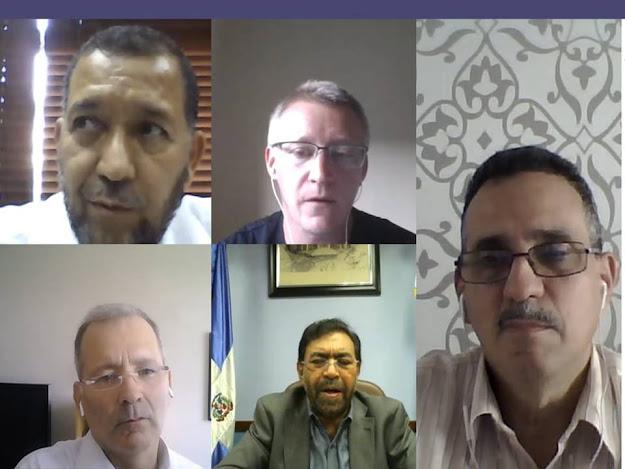 Reunión virtual del director ejecutivo del INDRHI, Olmedo Caba Romano, con representantes del Banco Interamericano de Desarrollo