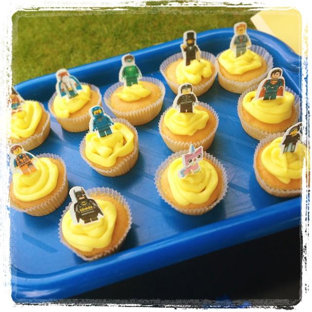 LEGO SUPERHERO MOVIE themed cupcakes BATMAN