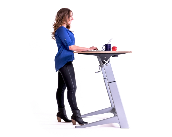 typical standing desk height
