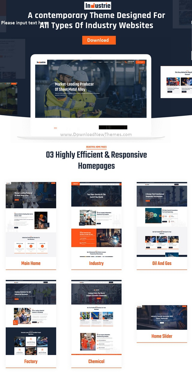 Industry and Factories Responsive WordPress Theme