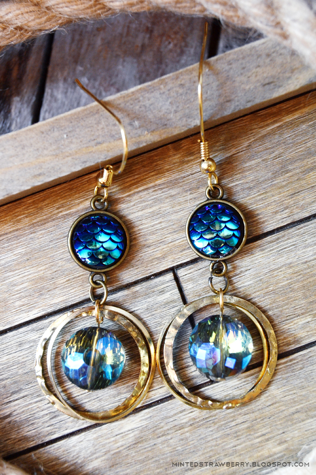 mermaid boho earrings coachella