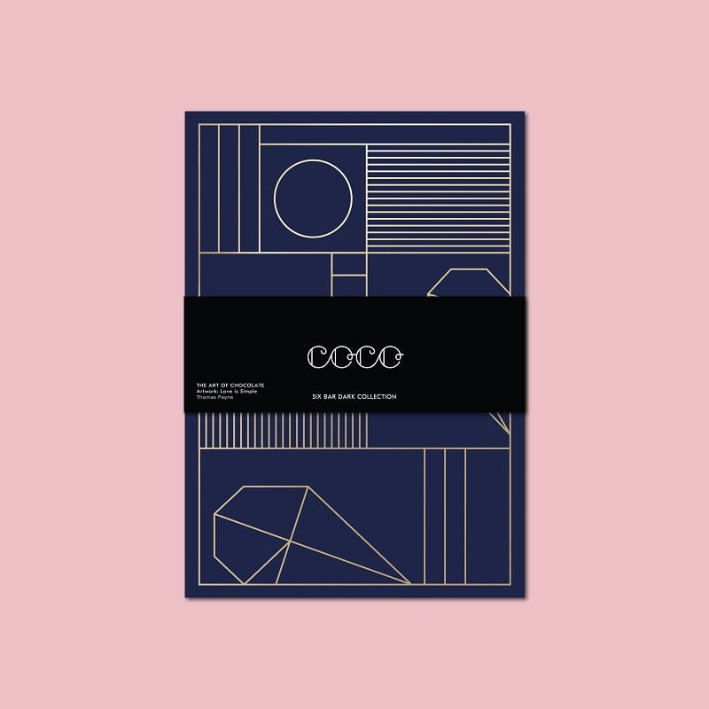 Coco Chocolatier Six Bar Dark Chocolate Collection Retail Price: £30