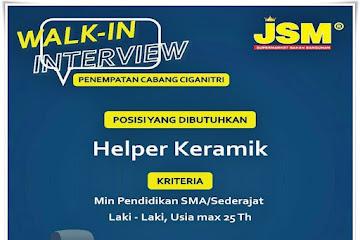 Loker Bandung Helper Keramik JSM