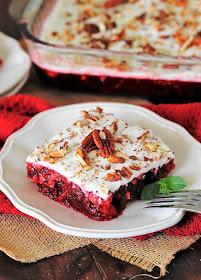 Slice of 7-Up Cranberry Jello Salad Image