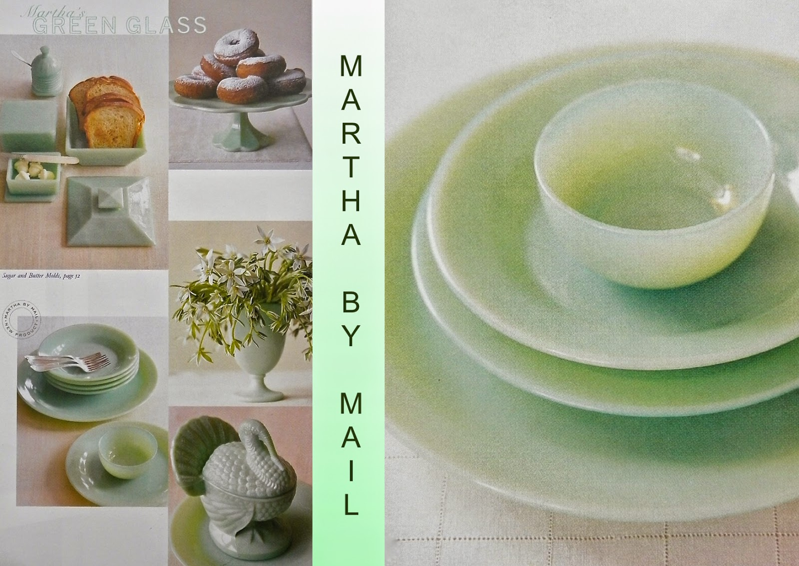 Set of Two Green Glass Mixing Bowl Set Excellent Condition Martha Stewart? Vintage Jadeite - 9 34 inch and 8 Inch 2