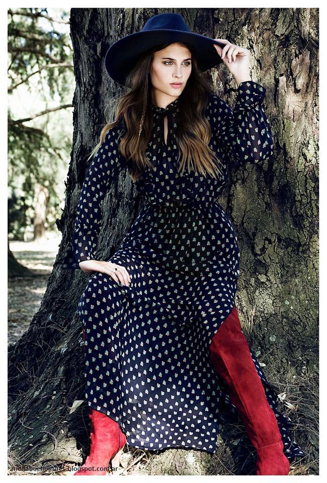 Vestidos invierno 2016 ropa de mujer Sans Doute moda.