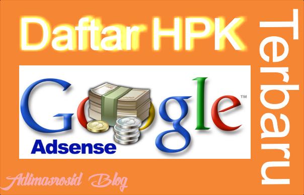 Daftar High Paying Keyword Google Adsense Untuk Niche Blog Indonesia