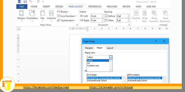 Cara Atasi Paper Size hanya Ada 3 pilihan A4,Lettter,Custom size di Microsoft Word