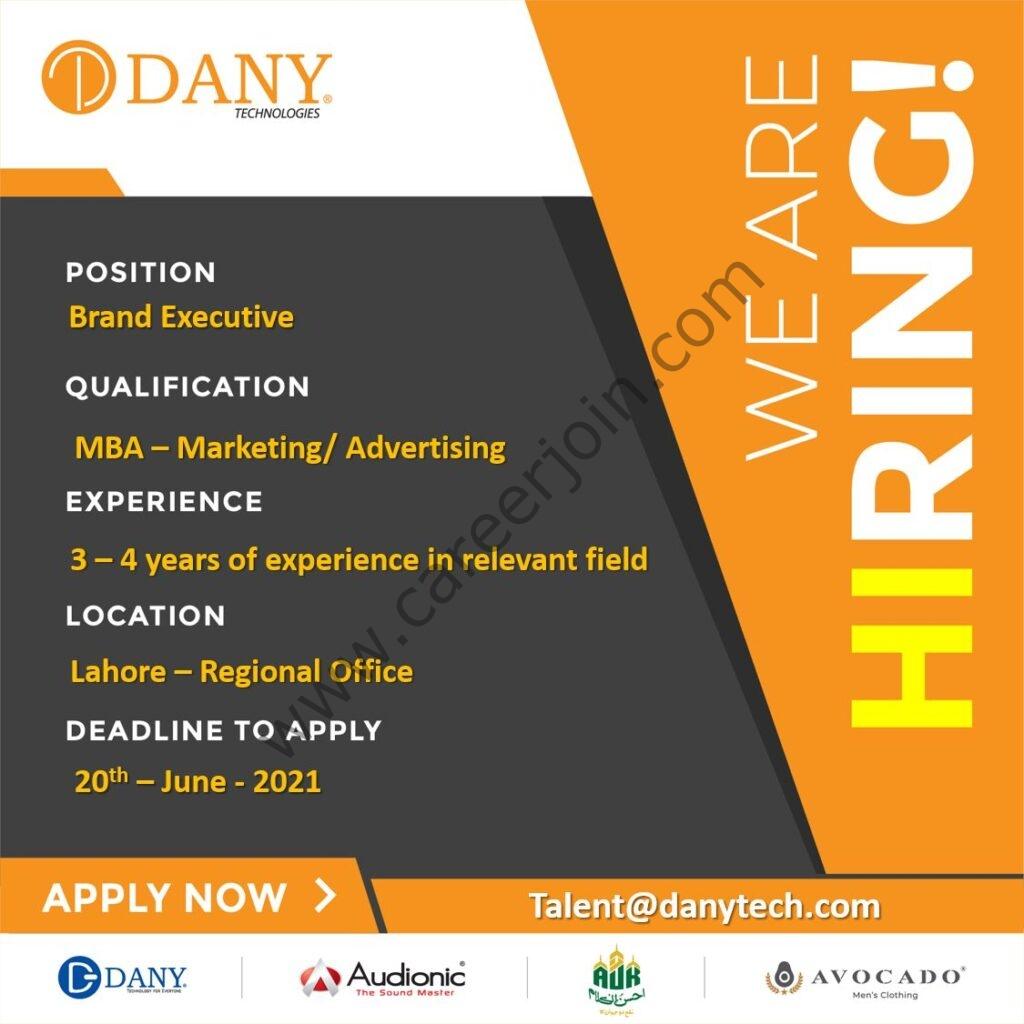 DANY Technologies Inc Jobs 2021 in Pakistan