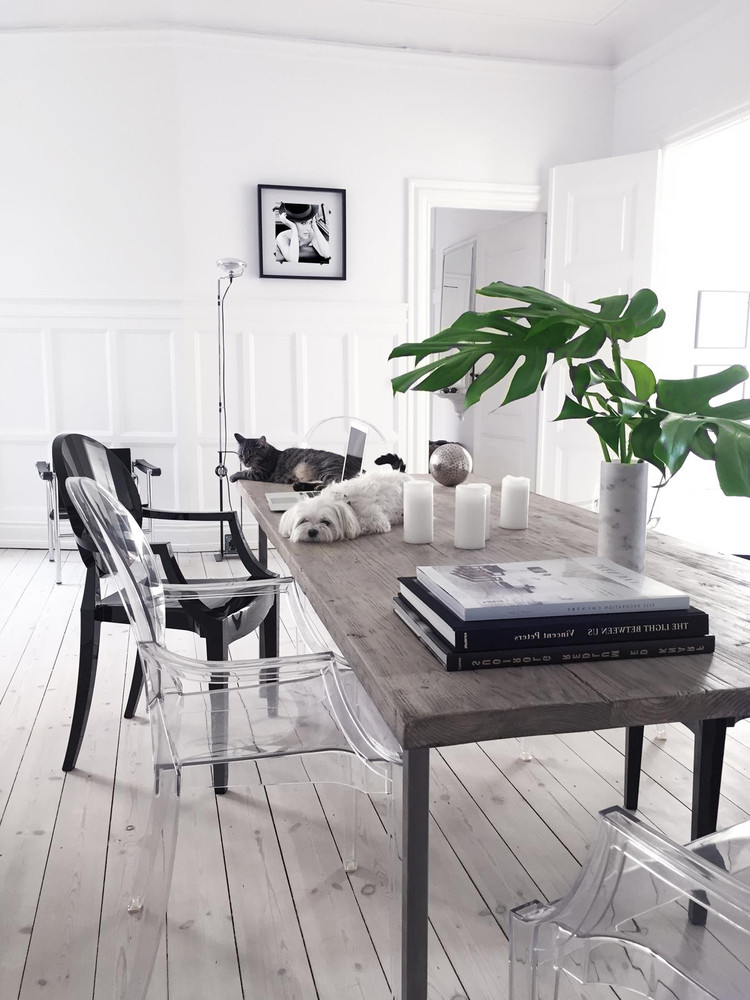 Un apartamento de estilo nórdico monocromático con mucho estilo
