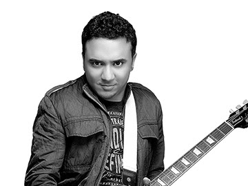 Ram shampath with guitar at the time compose music for raees