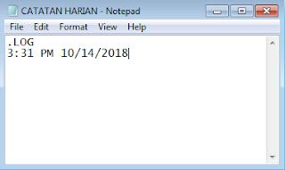 Cara Membuat Catatan Harian Menggunakan Notepad