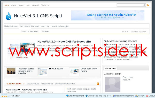 NukeView CMS İçerik Yönetim Scripti - Videolu Kurulum