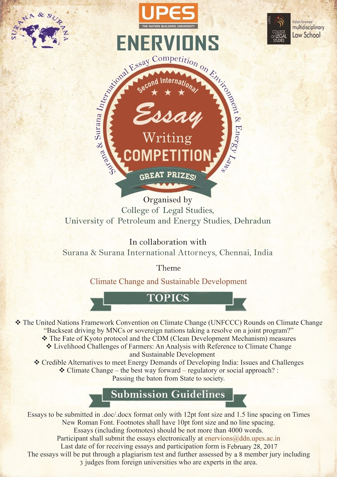surana and surana international essay competition 2014 Absolutism and relativism : comparison and critique international  court  competition on human rights 2014 1st runner up in surana & surana national  trial advocacy moot court & judgment writing competition 2014.