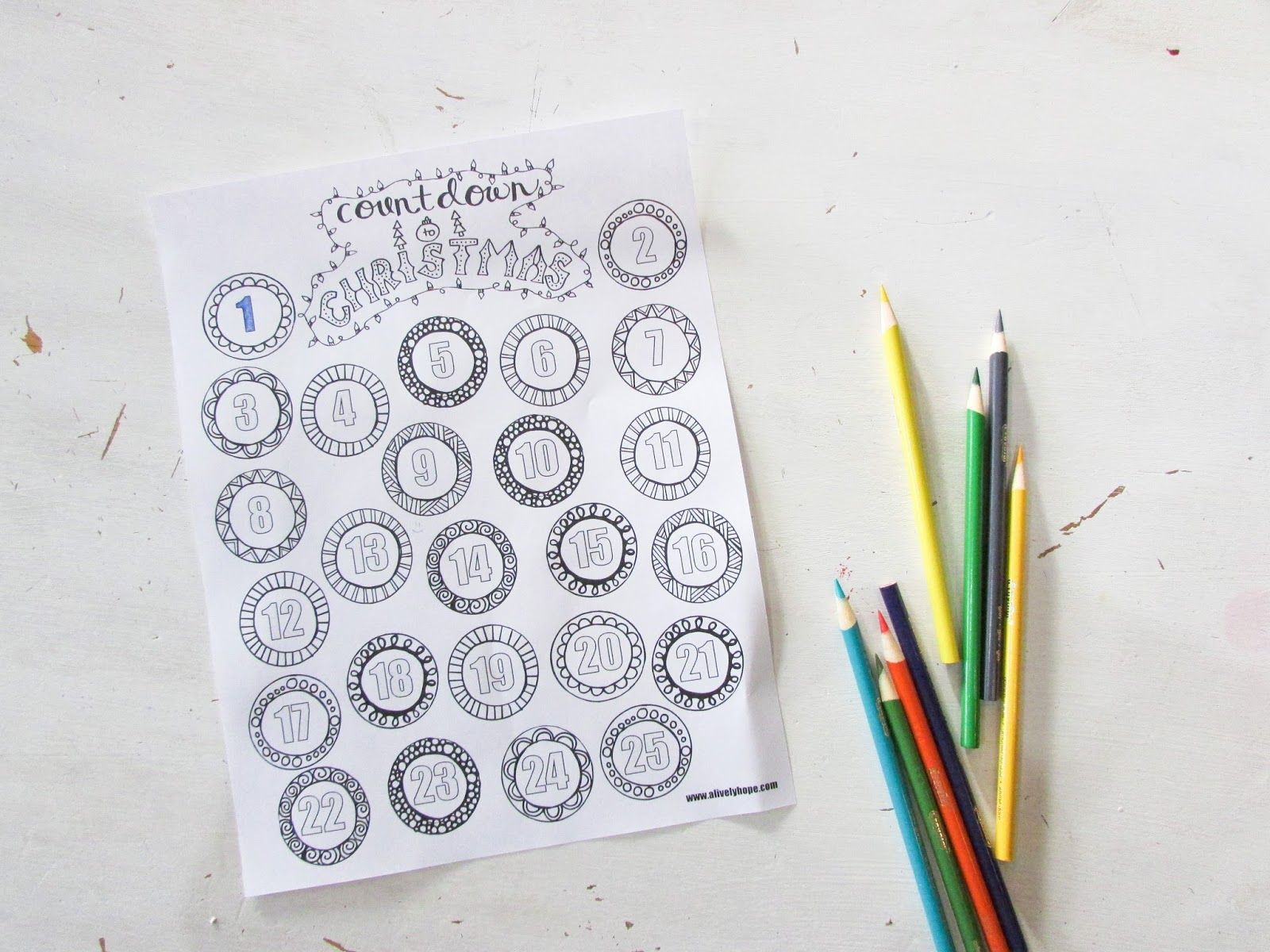a lively hope countdown to christmas coloring page