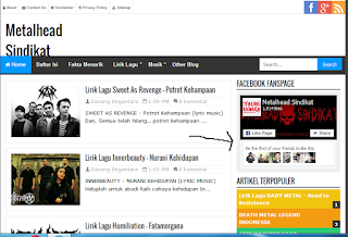 cara menambahkan fanspage fb pada blog