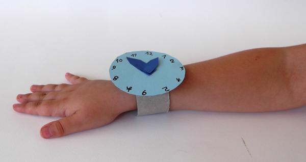 ρολόι χεριού, ρολόι από χαρτί, ρολόι χειροτεχνία, ρολόι κατασκευή