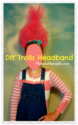 Cute #halloween costume! Trolls headband DIY video tutorial, so easy.