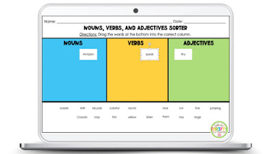 This adjectives sorting activity is a quick and easy activity to set up when reviewing adjectives with upper elementary students.