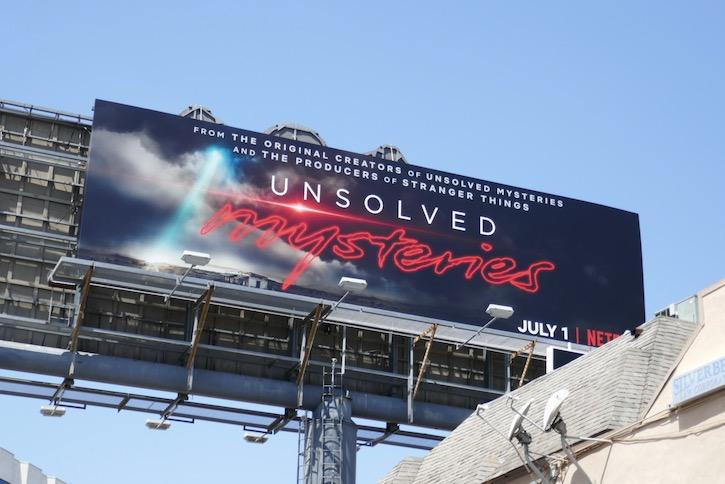 Unsolved Mysteries Netflix series billboard
