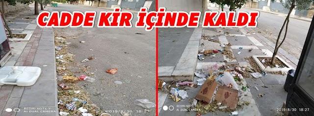 Kırmızıpınar Mahallesini çöpler kapladı