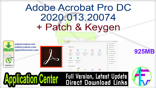 Adobe Acrobat Pro DC 2020.013.20074 + Patch & Keygen