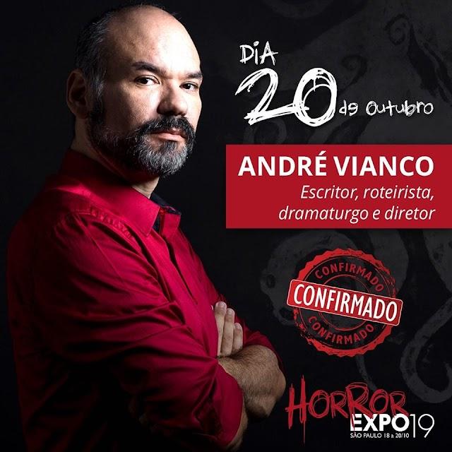Escritor André Vianco confirma presença no Horror Expo 2019