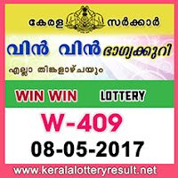 8.5.2017 Win Win Lottery W 409 Results Today