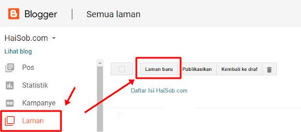 Laman baru untuk membuat daftar isi sederhana berdasarkan label Blog