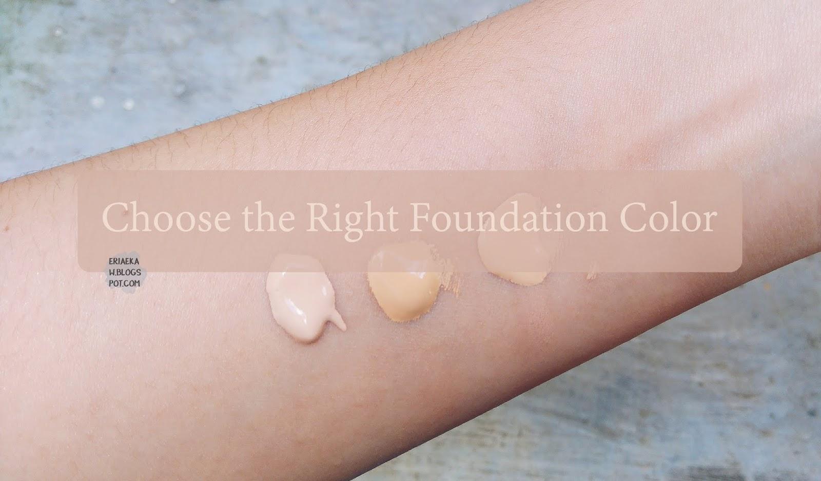 Cara Memilih Warna Foundation