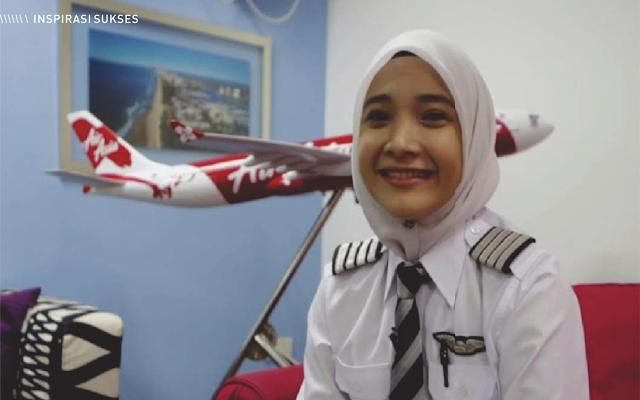 Fizzy Idrus Pilot, pilot wanita, pilot wanita fizzy idrus, pilot wanita berjilbab, pilot wanita berhijab, pilot cantik, pilot cantik malaysia, NoorHafizah Mohd Idrus, syarat menjadi pilot wanita  baju pilot anak perempuan