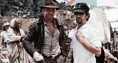 Steven Spielberg con Indiana Jones