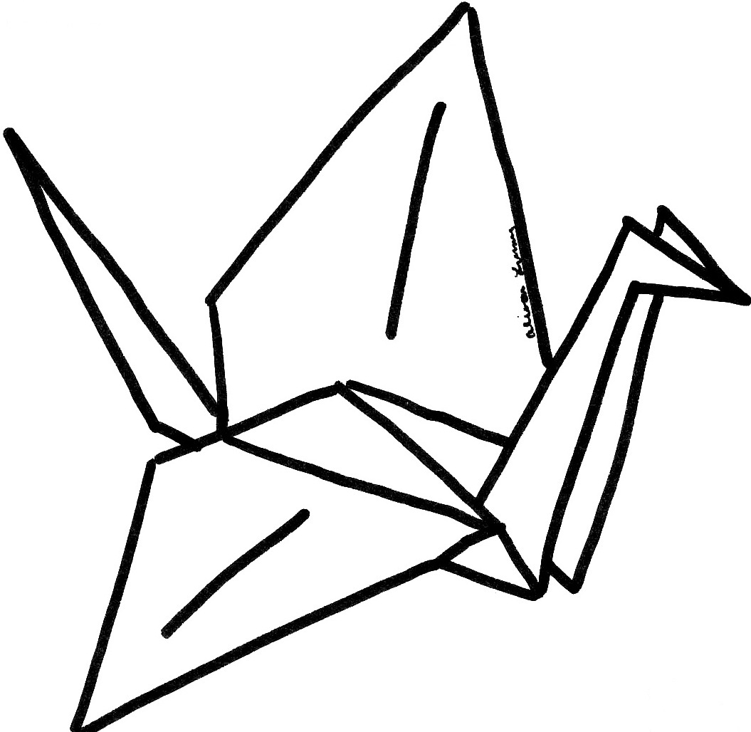 origami crane coloring pages   Just Kidding Just Hurts: April 2012