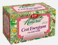 Ceai energizant cu ceai verde si alte ierburi aromatice