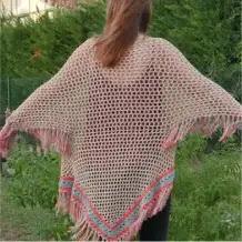 Poncho Étnico a Crochet