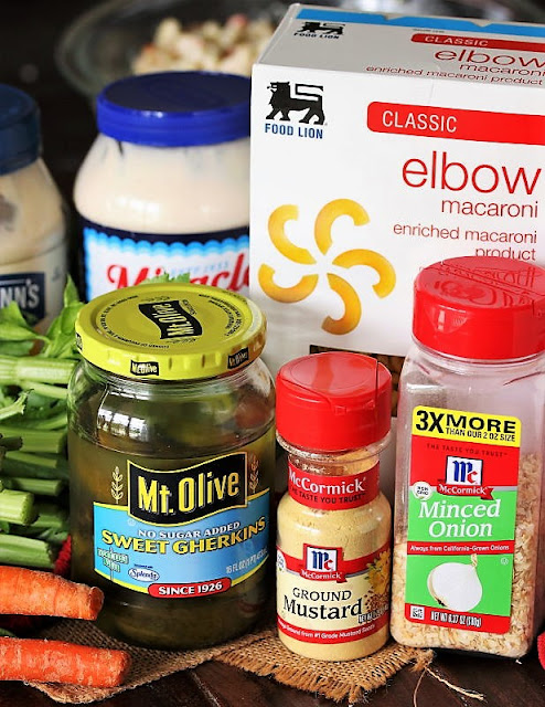 Copycat KFC Macaroni Salad Ingredients Image