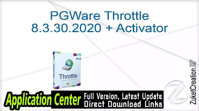PGWare Throttle 8.3.30.2020 + Activator