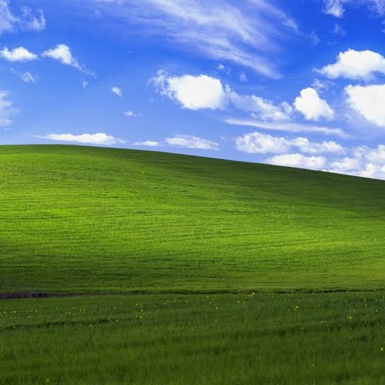 Así luce la colina del protector de pantalla de Windows