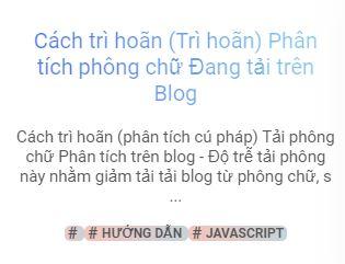 Cách trì hoãn phân tích phông chữ đang tải trên Blog
