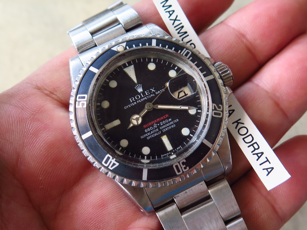 ROLEX SUBMARINER 1680 THE RED SUBMARINER