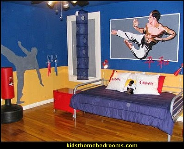 Karate Dojo karate martial arts bedroom ideas karate martial arts decorating boys sports bedrooms