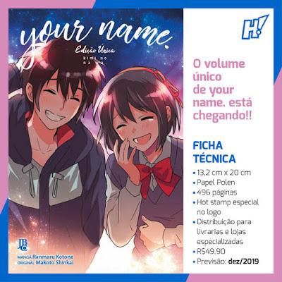 Your name. tem informações divulgadas pela JBC