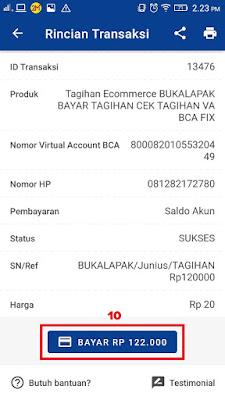 Nominal Tagihan Virtual Account BCA