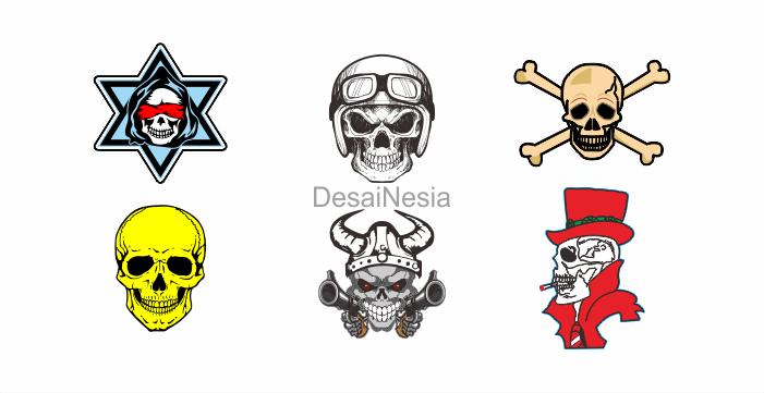 Download logo skull cdr gratis