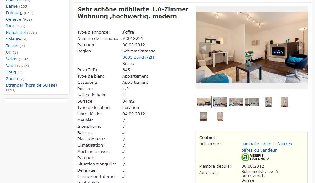 sehr sch ne m blierte 1 0 zimmer wohnung hochwertig moderner. Black Bedroom Furniture Sets. Home Design Ideas