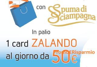 Logo Fai shopping con Spuma di Sciampagna e vinci 183 buoni Zalando