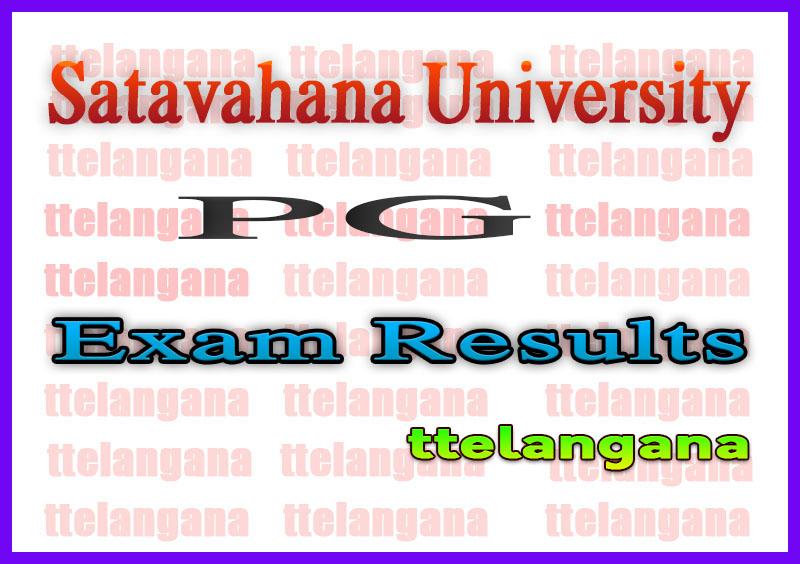 Satavahana University PG 1st Semester Exam Results