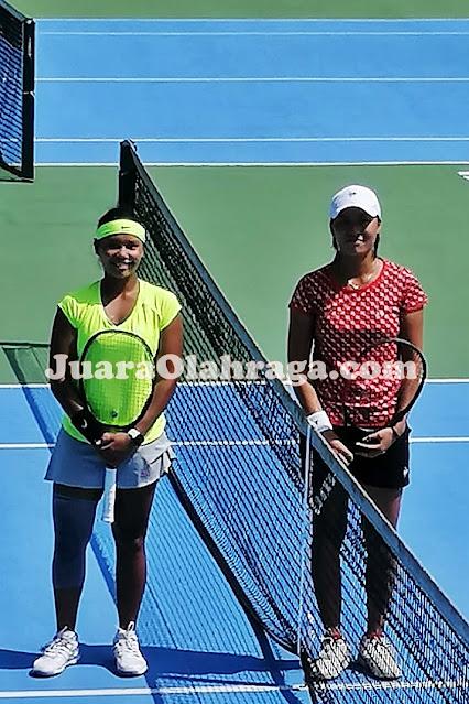 Rifanti Dwi Kahfiani vs Janice Tjen - Simulasi Pertandingan Antar Pemain Pelatnas Tenis Indonesia