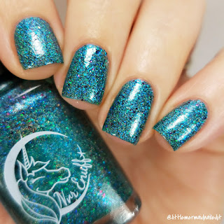 Nvr Enuff Polish In The Depths Collection Mermaid Lagoon Swatches and Review