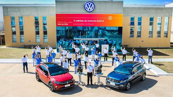 VW registra 2 milhões de motores EA211 produzidos em São Carlos